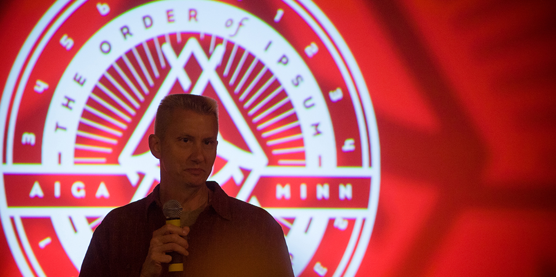 Photo of Ed Klemz at the AIGA Minnesota Design Camp