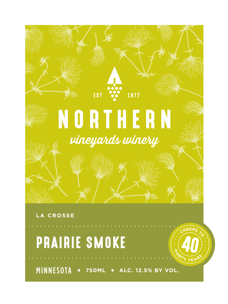 This is the Northern Vineyards Prairie Smoke Wine Label