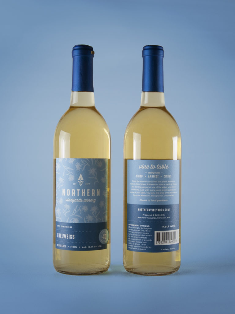 Northern Vineyards Edelweiss Wine Bottle