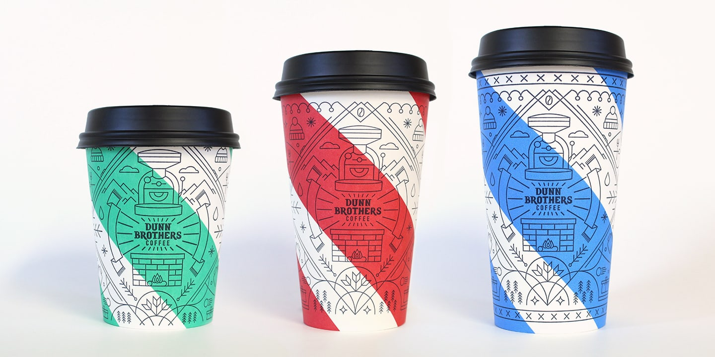 Dunn Brothers Holiday Cups