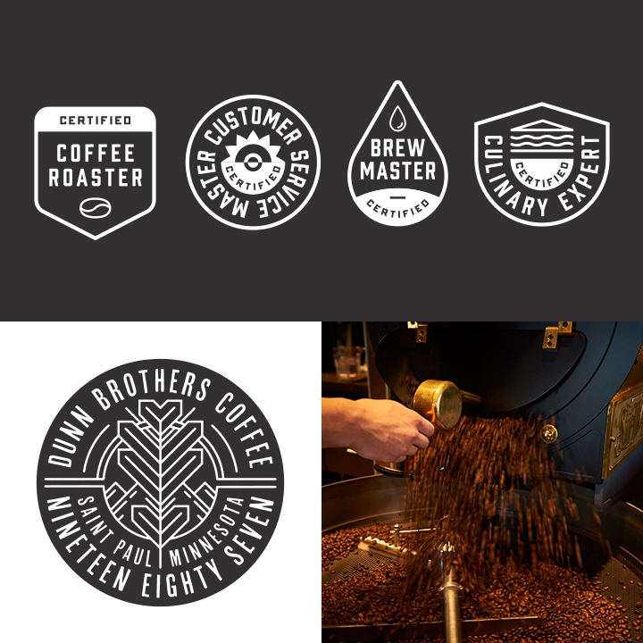 Dunn Brothers Coffee Photography and Badges