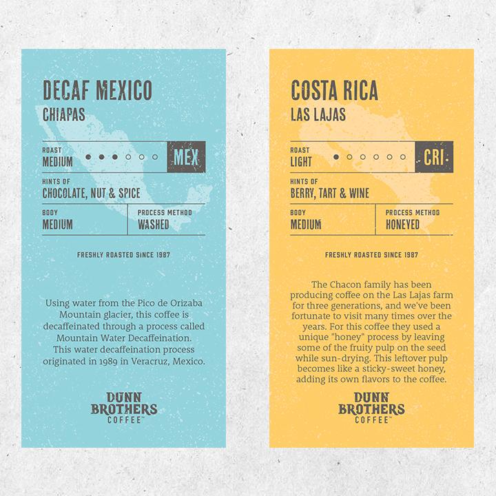 Dunn Brothers Coffee Bean Card Design