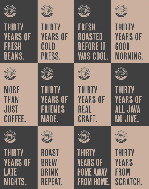 Dunn Brothers Coffee Thirty Years Commemoration