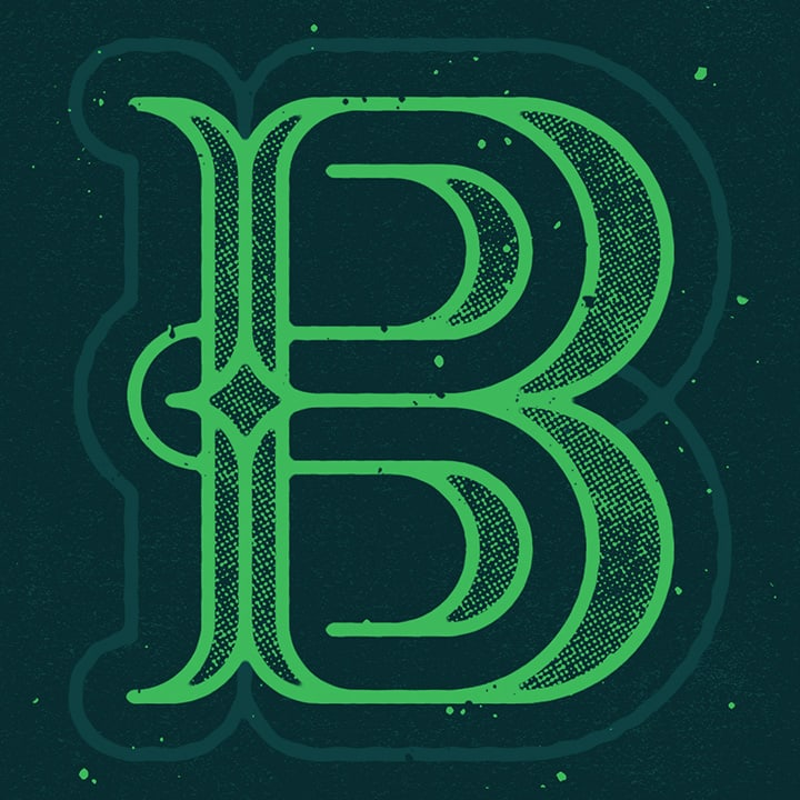 Graphic Design Typography of the Letter B