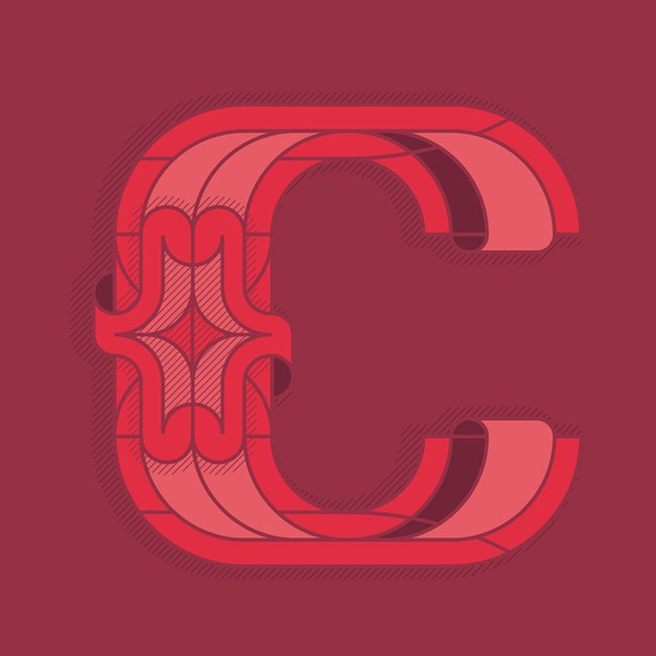 Graphic Design Typography of the Letter C