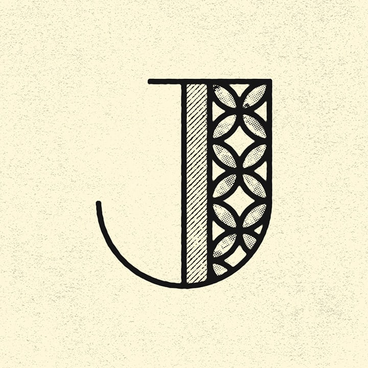 graphic letter J
