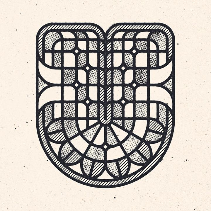 graphic letter U