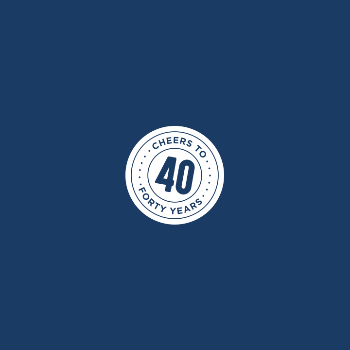 Northern Vineyards 40th anniversary symbol