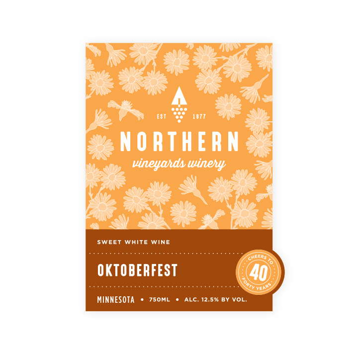 Northern Vineyards Flower Tier Wine Bottle Label