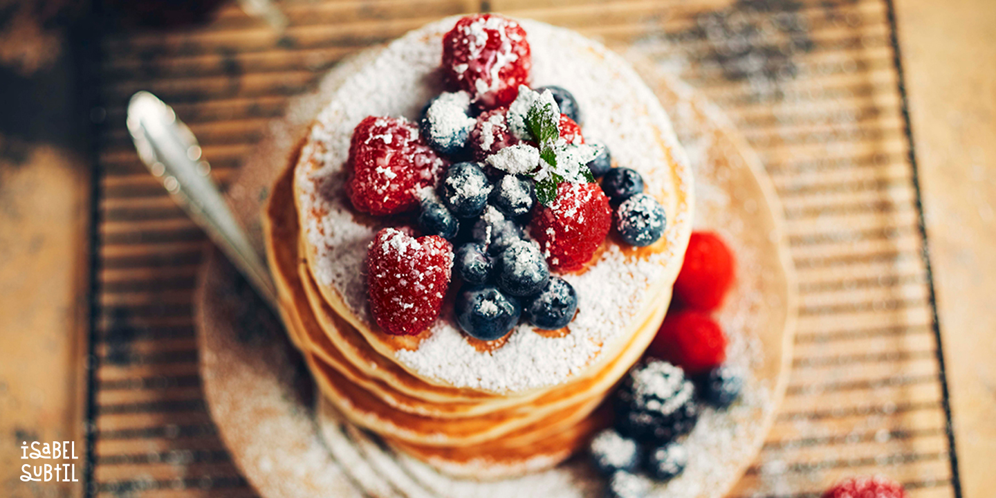 Blueberry and Strawberry Pancakes
