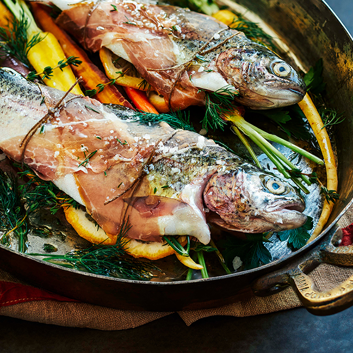 Photography of Fish and Vegetables