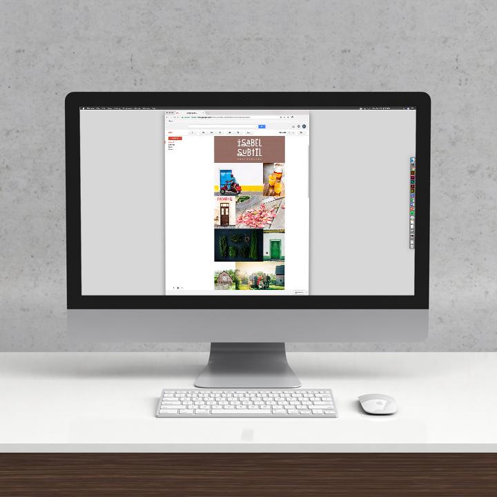 Mockup of Isabel Subtil Photography's Website