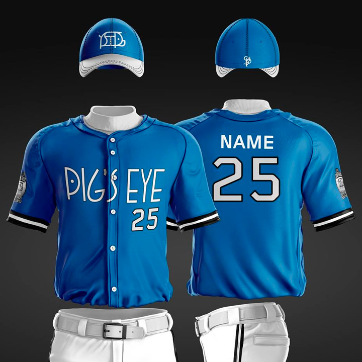 St. Paul Saint's Pig's Eye Identity Uniform
