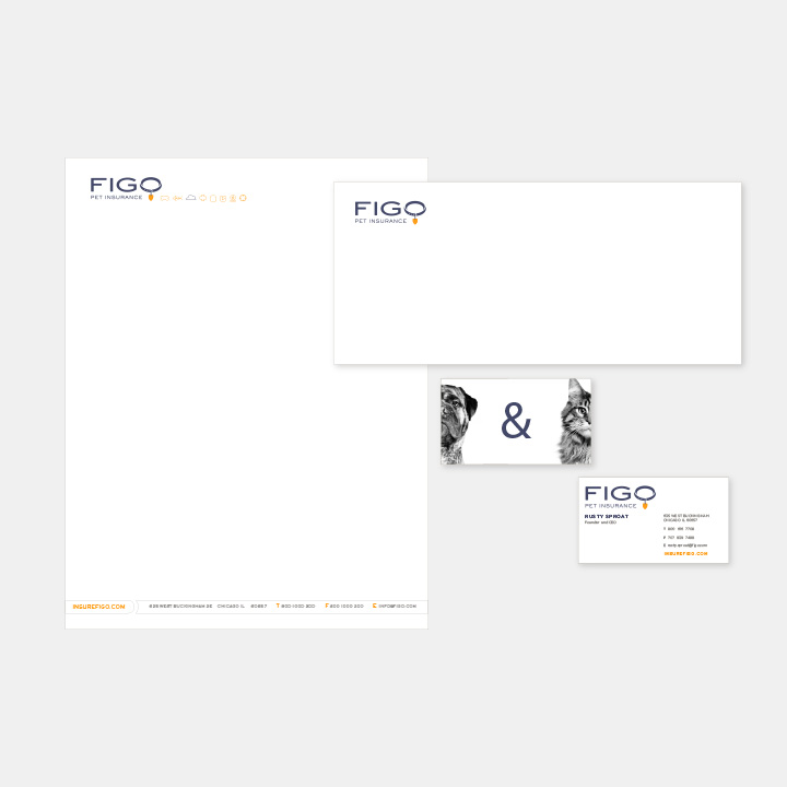 FIFO Pet Insurance Letterhead Business Card Envelope